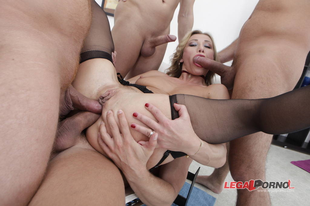 [LegalPorno] NEW Giorgio Grandi 5 on 1 Gang Bang. Pissing Drinking DAP, Rita Rush got Plastered GIO31