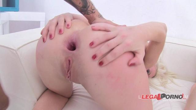 Amber Cute (redhead) + Licky Lex (blonde) take on 2 cocks (anal DP ATM ATOGM) SZ604