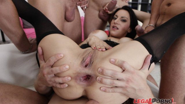 DAP inception #3, Sara Ray, DP & fist DAP, pussy only for DP, cum plastered, broken asshole GIO064