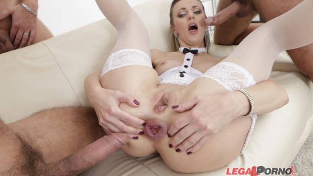 DAP Destination. Afina first DAP, intense DP, 4 swallow. Deep anal toys, balls deep ass fucking GIO089