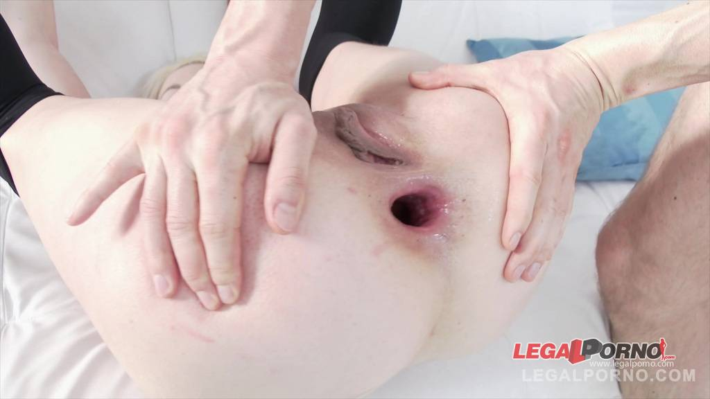 [LegalPorno] [Gonzo] Blonde babe Lucy Shine first anal with 2 cocks (0%pussy) SZ1104