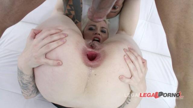 Mila Milan balls deep anal: busty milf ass fucked by 3 massive dicks & DP'ed SZ1109