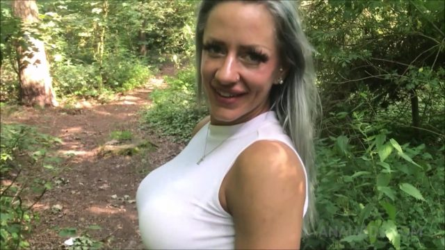 Doggy anal fuck & creampie in the forest with Fit XXXSandy OTS219