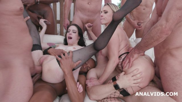 Two of a Kind #2 Anna de Ville & Brittany Bardot Orgy with Squirt, Balls Deep Anal, DAP, Anal Fisting, Buttrose, Gapes GIO1443
