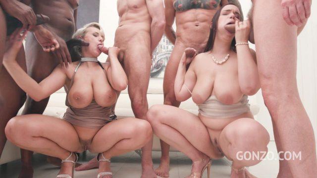 Curvy czech babes Angel Wicky & Sofia Lee assfucked together at studio Gonzo SZ2438